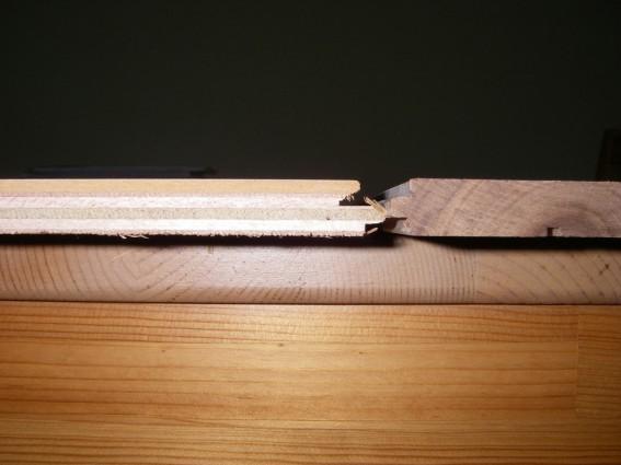無垢と合板の断面