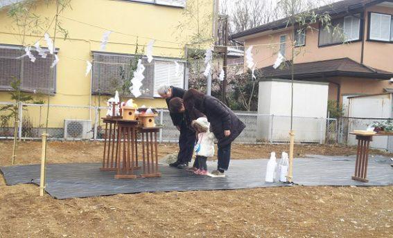 八王子の工務店の地鎮祭