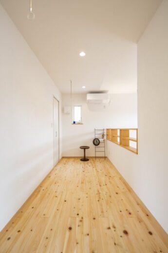 八王子の注文住宅会社の大久保工務店の室内干しの画像